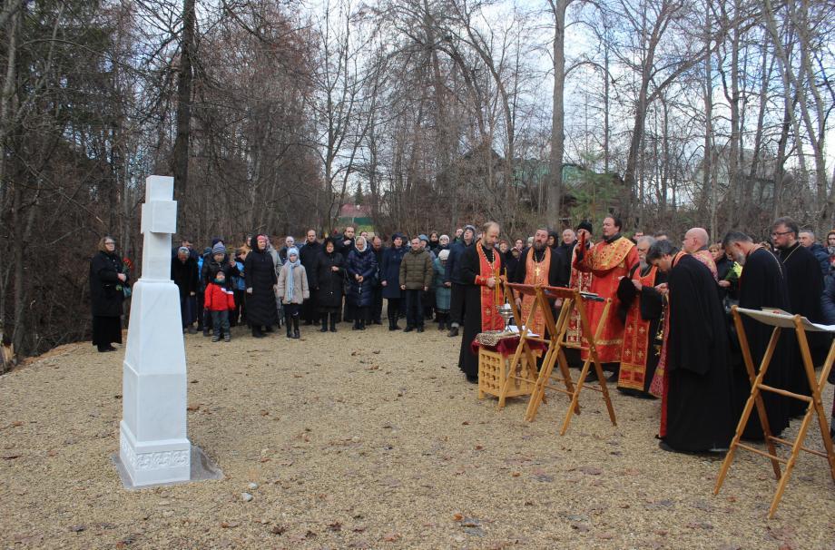 Освящение креста в Новоборисовке