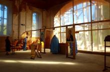 Первая литургия в храме в Понизовье