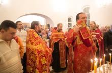 Первая служба в храме Новомученников и Исповедников Российских